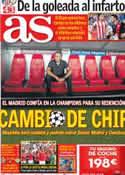 Portada diario AS del 17 de Septiembre de 2012