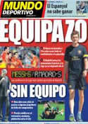 Portada Mundo Deportivo del 17 de Septiembre de 2012