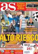 Portada diario AS del 18 de Septiembre de 2012