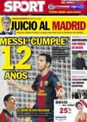 Portada diario Sport del 18 de Septiembre de 2012