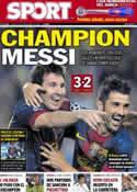 Portada diario Sport del 20 de Septiembre de 2012
