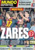 Portada Mundo Deportivo del 20 de Septiembre de 2012
