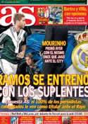 Portada diario AS del 22 de Septiembre de 2012