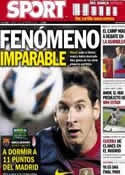 Portada diario Sport del 22 de Septiembre de 2012