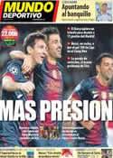 Portada Mundo Deportivo del 22 de Septiembre de 2012