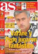 Portada diario AS del 23 de Septiembre de 2012