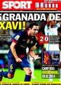 Portada diario Sport del 23 de Septiembre de 2012