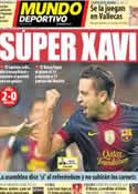 Portada Mundo Deportivo del 23 de Septiembre de 2012
