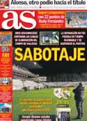 Portada diario AS del 24 de Septiembre de 2012
