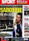 Portada diario Sport del 24 de Septiembre de 2012