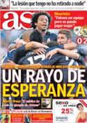 Portada diario AS del 25 de Septiembre de 2012