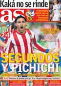 Portada diario AS del 27 de Septiembre de 2012