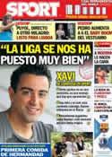 Portada diario Sport del 27 de Septiembre de 2012