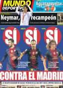 Portada Mundo Deportivo del 28 de Septiembre de 2012