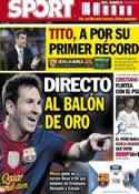 Portada diario Sport del 29 de Septiembre de 2012