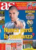 Portada diario AS del 30 de Septiembre de 2012