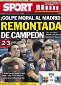 Portada diario Sport del 30 de Septiembre de 2012