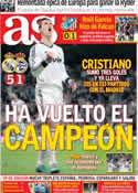 Portada diario AS del 1 de Octubre de 2012