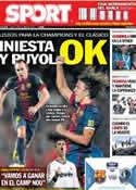 Portada diario Sport del 1 de Octubre de 2012