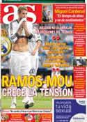 Portada diario AS del 2 de Octubre de 2012