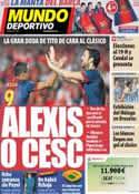Portada Mundo Deportivo del 4 de Octubre de 2012
