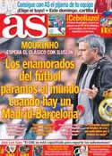 Portada diario AS del 5 de Octubre de 2012