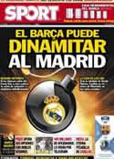 Portada diario Sport del 5 de Octubre de 2012