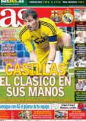 Portada diario AS del 6 de Octubre de 2012