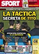 Portada diario Sport del 6 de Octubre de 2012