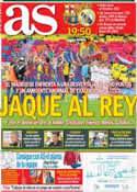 Portada diario AS del 7 de Octubre de 2012