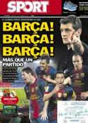 Portada diario Sport del 7 de Octubre de 2012
