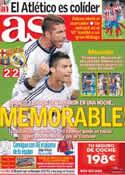 Portada diario AS del 8 de Octubre de 2012