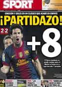 Portada diario Sport del 8 de Octubre de 2012