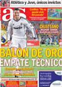 Portada diario AS del 9 de Octubre de 2012