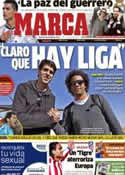 Portada diario Marca del 9 de Octubre de 2012