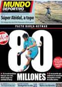 Portada Mundo Deportivo del 10 de Octubre de 2012