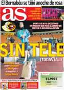 Portada diario AS del 12 de Octubre de 2012