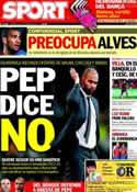 Portada diario Sport del 12 de Octubre de 2012