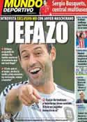 Portada Mundo Deportivo del 12 de Octubre de 2012