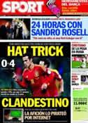 Portada diario Sport del 13 de Octubre de 2012