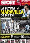 Portada diario Sport del 14 de Octubre de 2012