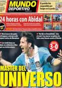 Portada Mundo Deportivo del 14 de Octubre de 2012