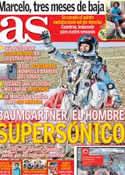 Portada diario AS del 15 de Octubre de 2012