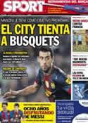 Portada diario Sport del 16 de Octubre de 2012