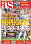 Portada diario AS del 18 de Octubre de 2012