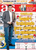 Portada diario AS del 19 de Octubre de 2012