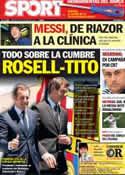 Portada diario Sport del 19 de Octubre de 2012