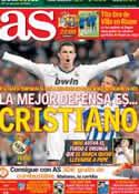 Portada diario AS del 20 de Octubre de 2012