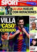 Portada diario Sport del 20 de Octubre de 2012