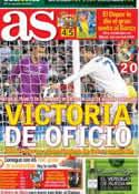 Portada diario AS del 21 de Octubre de 2012